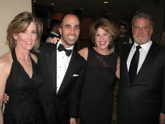 Tammy Schiff, left, with Edward Shaoul, Robin Chotin, and Steven Chotin
