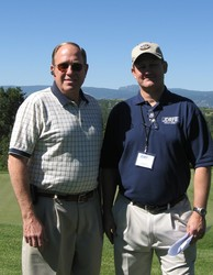 Board president Jeff Gartz (left) with JDRF Executive Director James Buckles