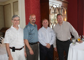 Pittsburgh's Ohio Valley General Hospital Foundation's 25th Annual Golf Fundrive with guests Donald Narus, Gene Battistella, Mark Brennan and Tom Garber