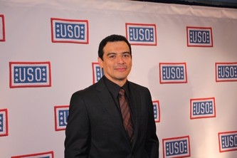 Comedian Carlos Mencia, USO entertainer and emcee of the 2011 USO Gala