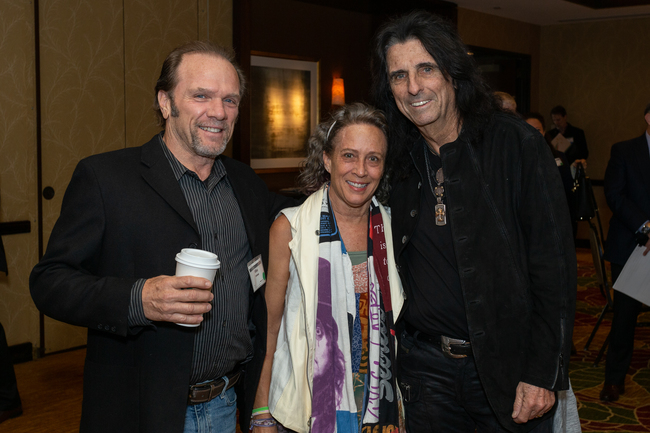 Mike Delaney, Julie Bartos, and Alice Cooper
