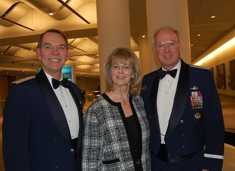 MG Rick Moisio, Deputy Director, Air National Guard and his wife Mary, left, with Gen Craig McKinley, Chief of the National Guard Bureau